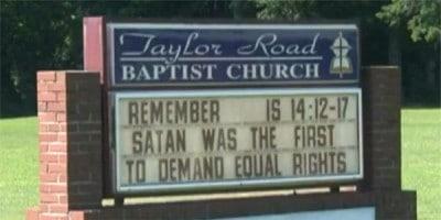 Satan Demanded Equal Rights