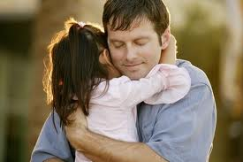 father daughter hug