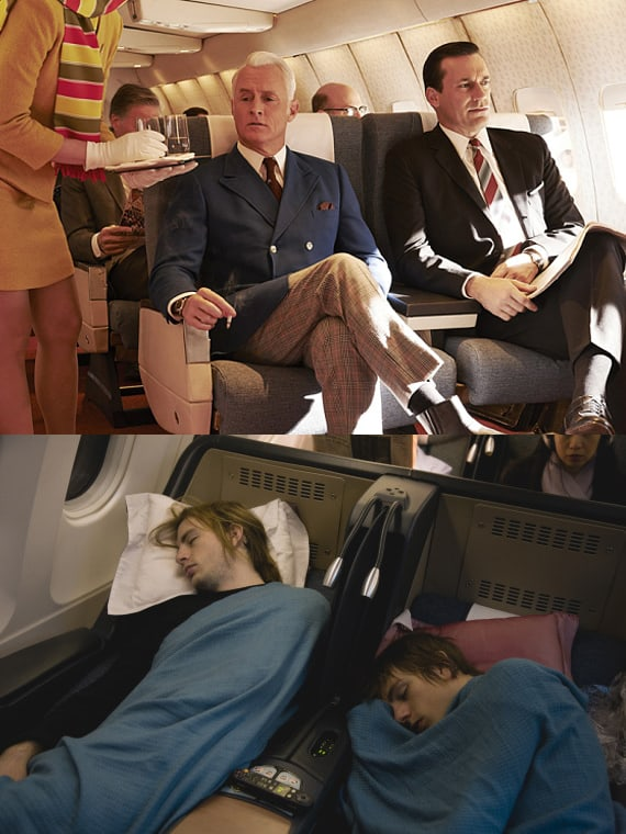 AIRPLANE PASSENGERS THEN AND NOW