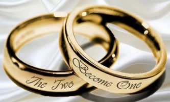 wedding rings two become one