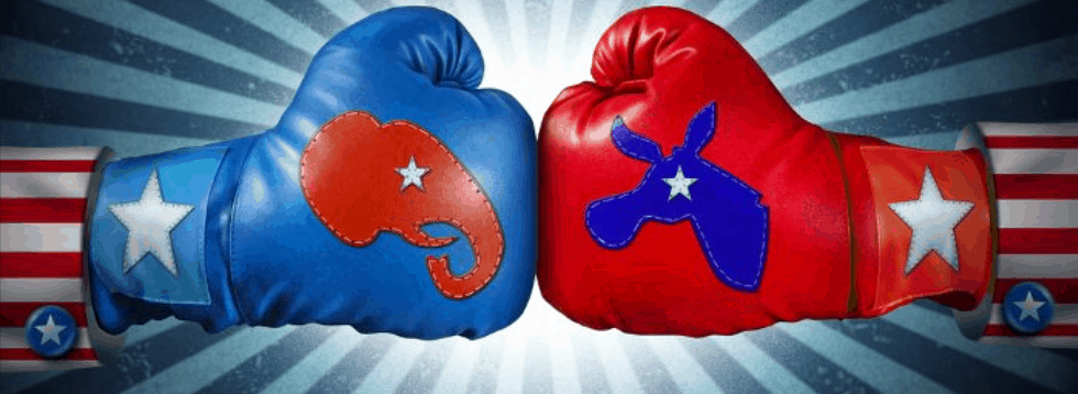 Political Boxing Gloves