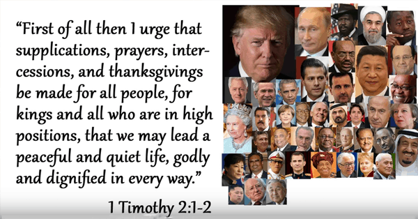 Does the Bible Say to be Thankful for the President?