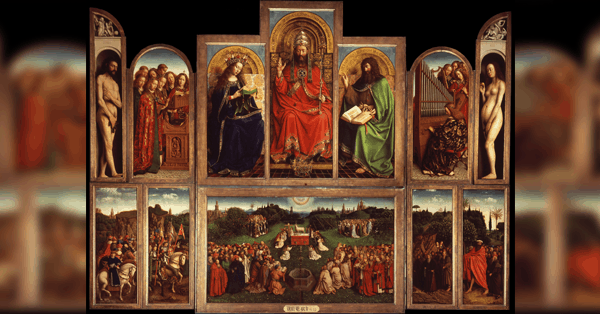 The Ghent Altarpiece artistically brings together theological themes