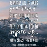 Life Creative Starts at Home with Wendy Speake